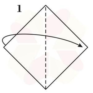 Pez Saltarín de Origami - Paso 1