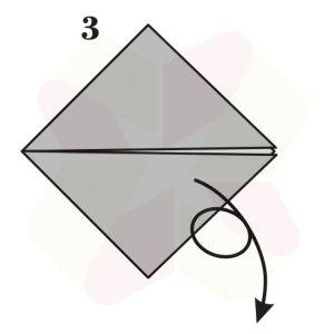 Pez Saltarín de Origami - Paso 3