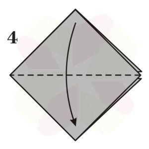 Pez Saltarín de Origami - Paso 4