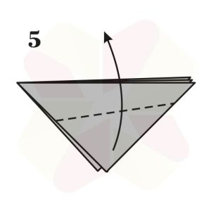 Pez Saltarín de Origami - Paso 5