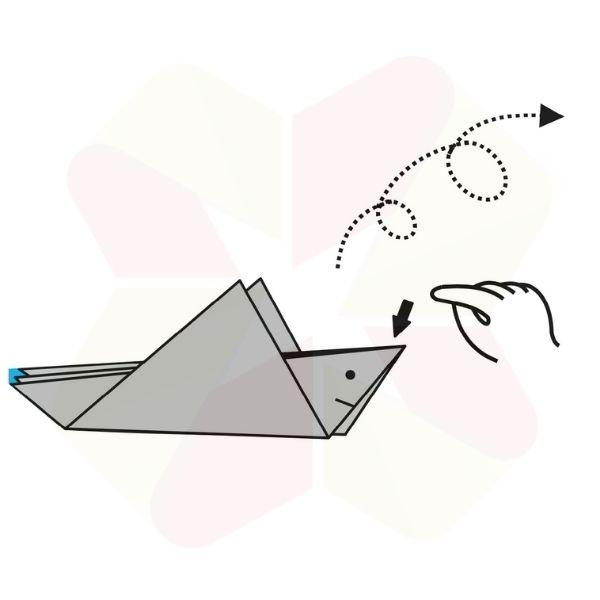 Pez Saltarín de Origami - Terminado