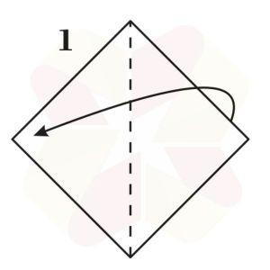 Buho Mensajero de Origami - Paso 1