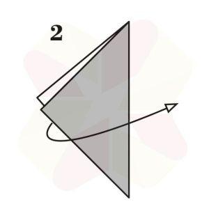 Buho Mensajero de Origami - Paso 2