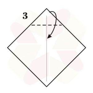 Buho Mensajero de Origami - Paso 3