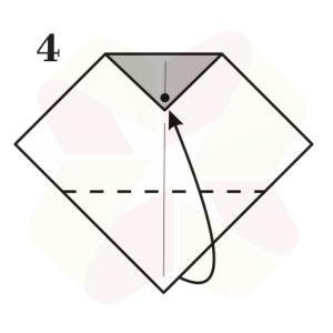 Buho Mensajero de Origami - Paso 4