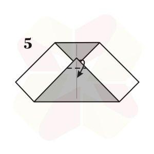 Buho Mensajero de Origami - Paso 5