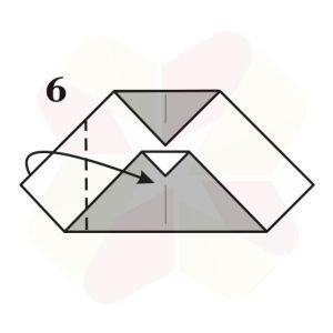 Buho Mensajero de Origami - Paso 6