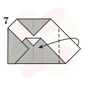 Buho Mensajero de Origami - Paso 7