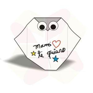 Buho Mensajero de Origami - Terminado Mensaje Oculto