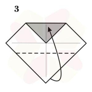 Corazon de Origami - Paso 3