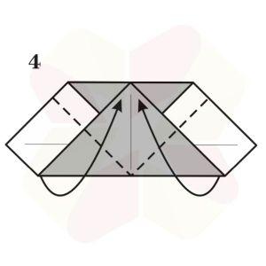 Corazon de Origami - Paso 4
