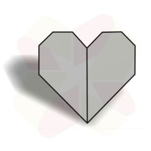 Corazon de Origami - Terminado