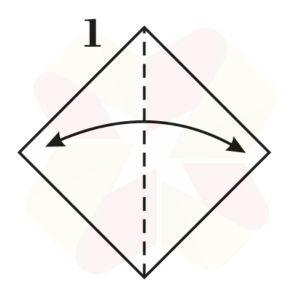 Lechuza de Origami - Paso 1
