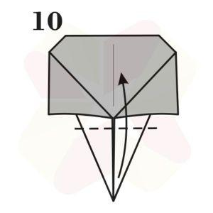 Lechuza de Origami - Paso 10