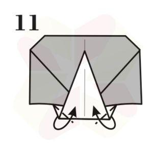 Lechuza de Origami - Paso 11