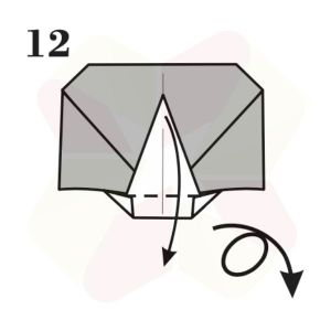 Lechuza de Origami - Paso 12