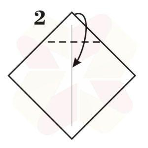 Lechuza de Origami - Paso 2