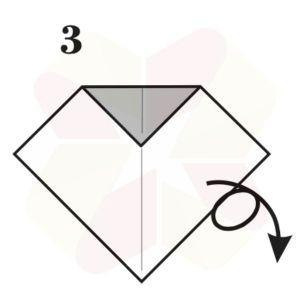 Lechuza de Origami - Paso 3