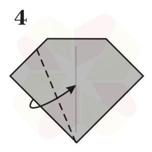 Lechuza de Origami - Paso 4