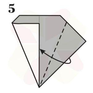 Lechuza de Origami - Paso 5