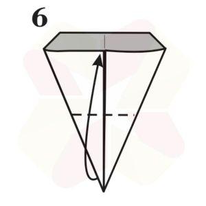 Lechuza de Origami - Paso 6
