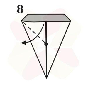 Lechuza de Origami - Paso 8