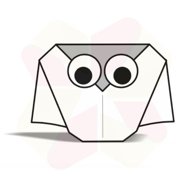 Lechuza de Origami - Terminada
