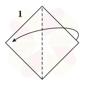 Ranita de Origami - Paso 1