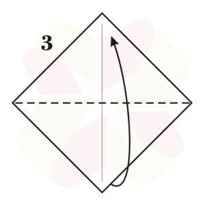 Ranita de Origami - Paso 3