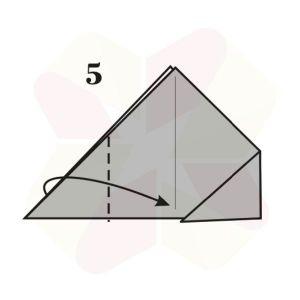 Ranita de Origami - Paso 5