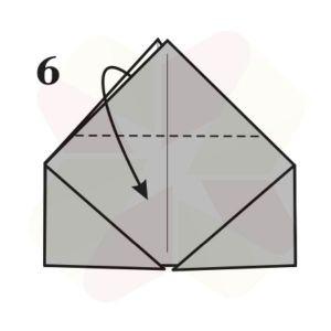 Ranita de Origami - Paso 6
