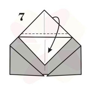 Ranita de Origami - Paso 7