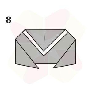 Ranita de Origami - Paso 8