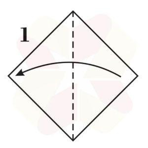 Ratoncito de Origami - Paso 1