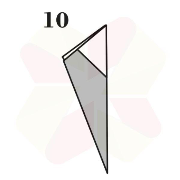 Ratoncito de Origami - Paso 10
