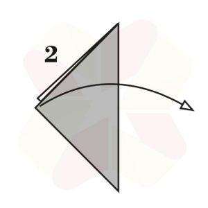 Ratoncito de Origami - Paso 2