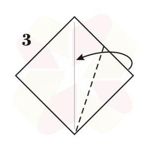 Ratoncito de Origami - Paso 3
