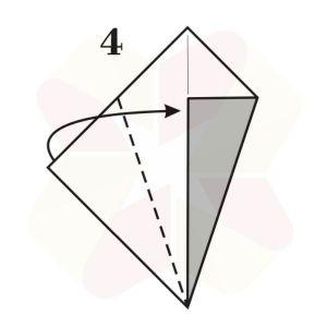 Ratoncito de Origami - Paso 4