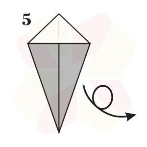 Ratoncito de Origami - Paso 5