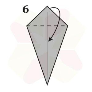 Ratoncito de Origami - Paso 6
