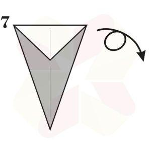 Ratoncito de Origami - Paso 7