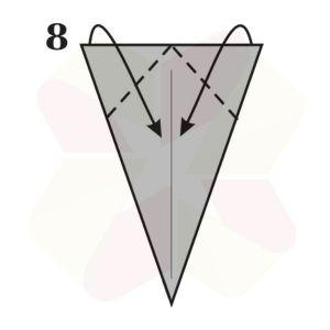 Ratoncito de Origami - Paso 8