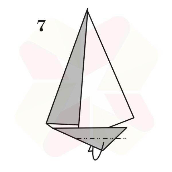 Velero de Origami - Paso 7