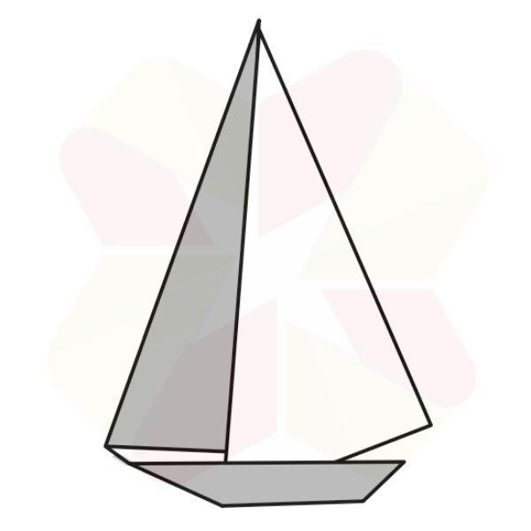 Velero de Origami - Terminado