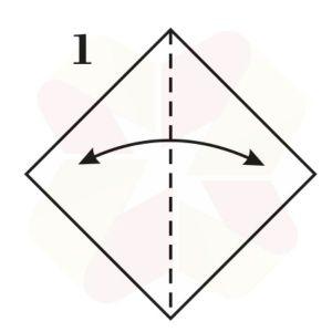 Conejo de Origami - Paso 1