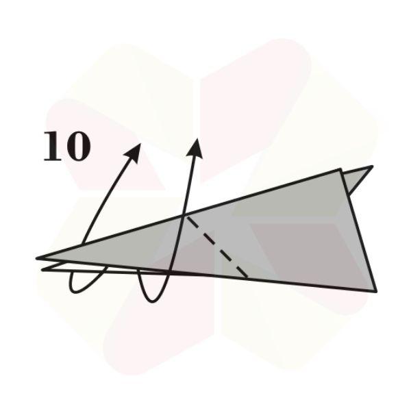 Conejo de Origami - Paso 10
