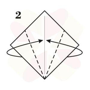 Conejo de Origami - Paso 2