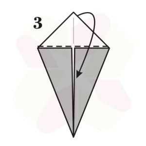 Conejo de Origami - Paso 3