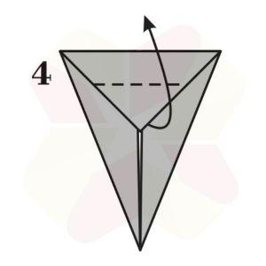 Conejo de Origami - Paso 4