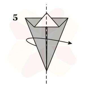 Conejo de Origami - Paso 5